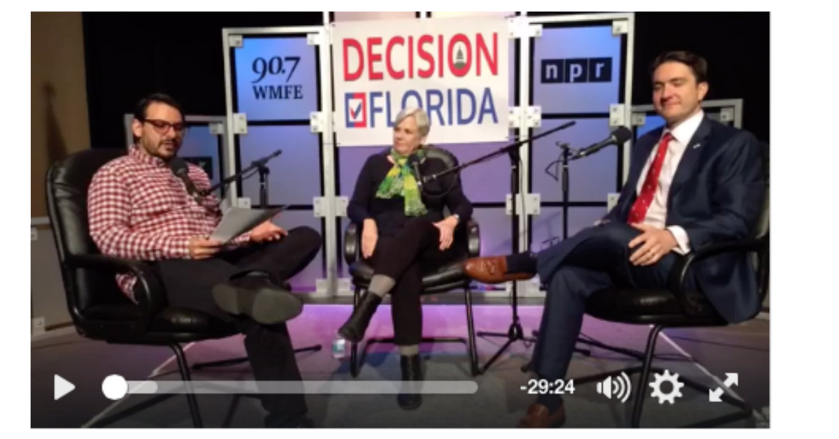 Decision Florida show about gun legislation with 90.7 WMFE health reporter Abe Aboraya. He's talking gun bills moving through the Florida Legislature with Republican attorney Wade Vose and League of Women Voters of Florida's Patricia M. Brigham.  Click here to see the Facebook Live video of the show