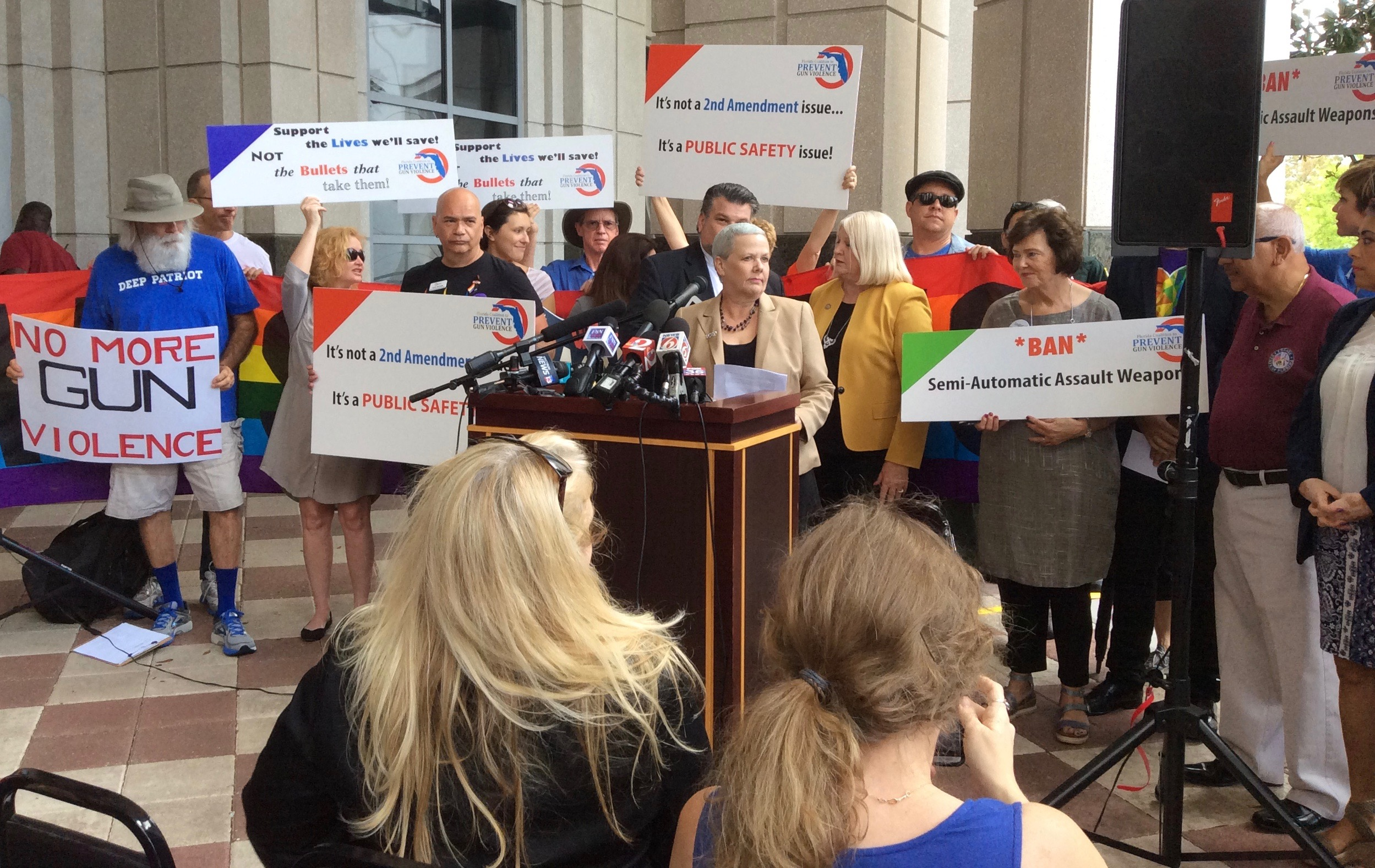 Pulse victim's mom, state lawmakers urge action on assault weapons ban in this news coverage by the Orlando Sentinel