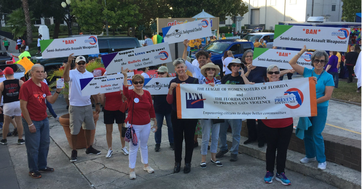 LWVF Marches for Gun Safety in Come out with Pride Parade, Orlando