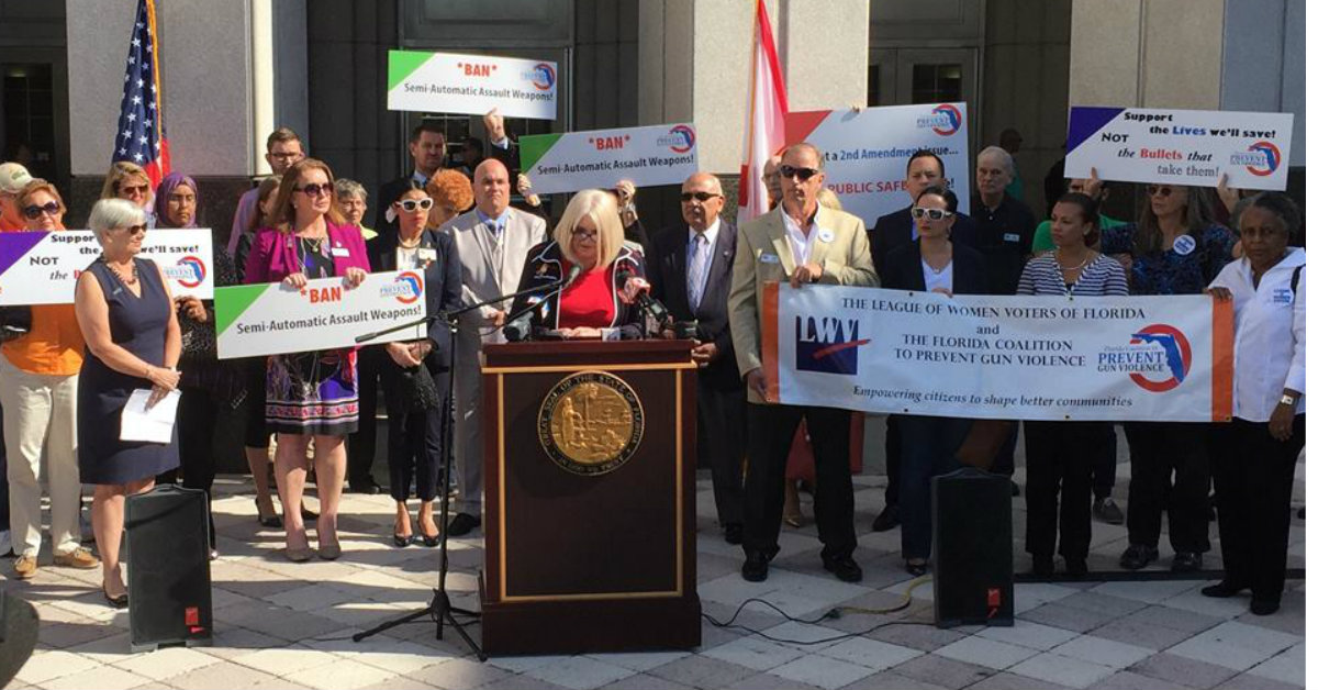 The Florida Coalition to Prevent Gun Violence, lawmakers and Pulse survivors join to support ban on assault weapon sales